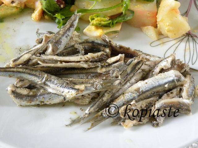 Baked anchovies marked