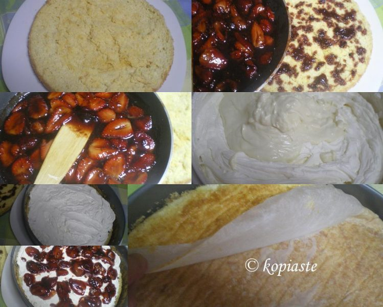 Collage assembling cake