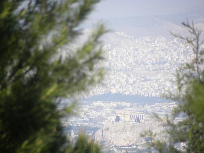 Athens view of the Acropolis