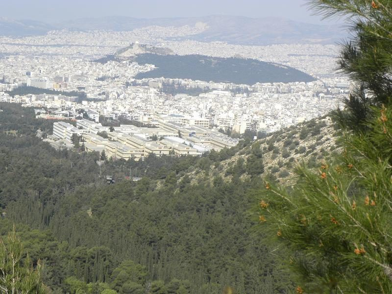 Athens view Lycabettus and University