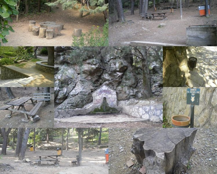 Collage Hymettus rest places