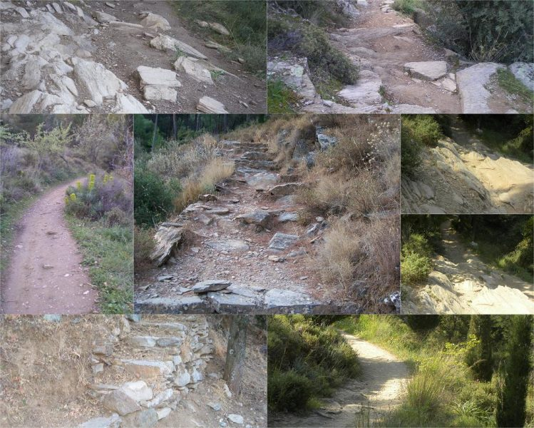 Collage Hymettus trails