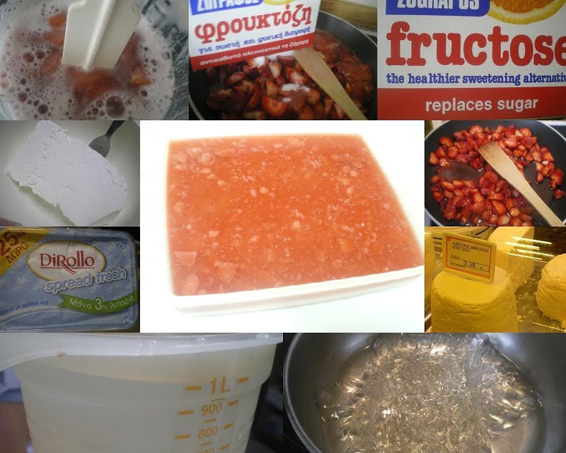 Collage Jelly Strawberry Jelly ricotta image