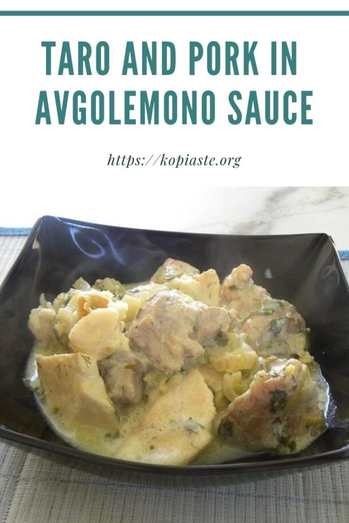 Collage Taro and Pork in Avgolemono Sauce image