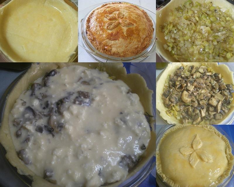 Collage Manitaropita mushroom pie image