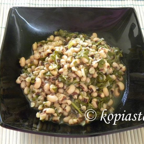 Louvi – and Black eyed Peas with Chard