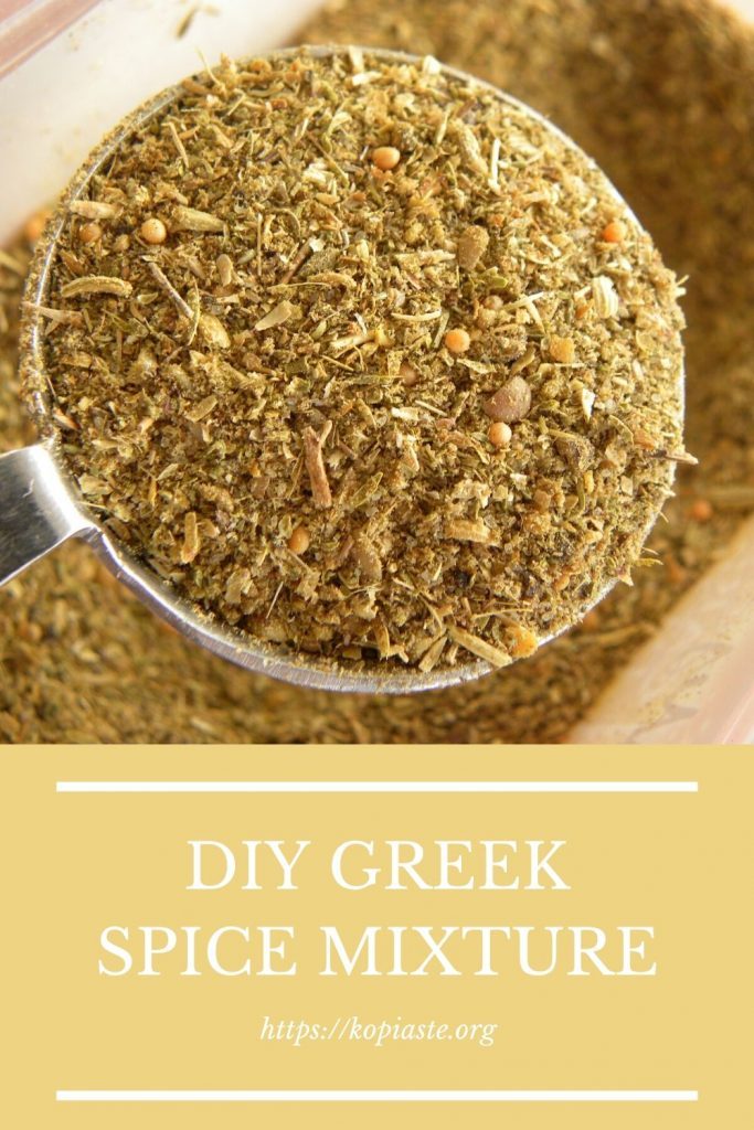 Collage DIY GREEK SPICE MIXTURE image