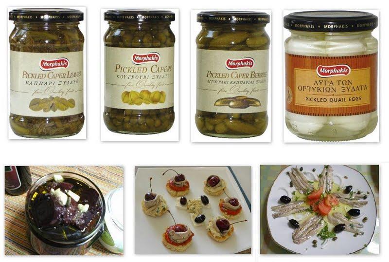 Collage pickled vegetables image