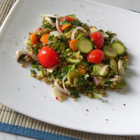 Healthy Mediterranean Lentil Salad