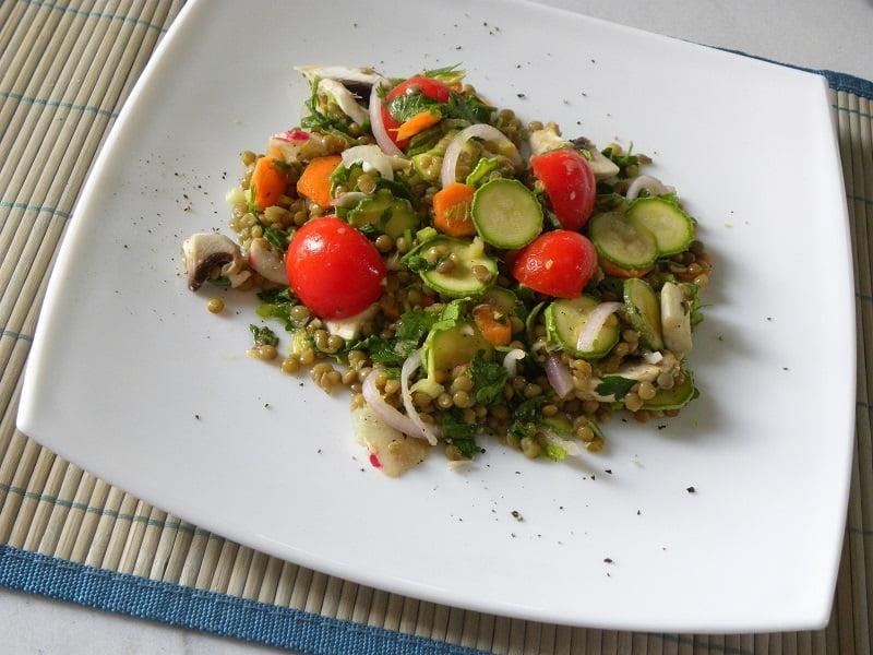 Healthy Lentil salad image
