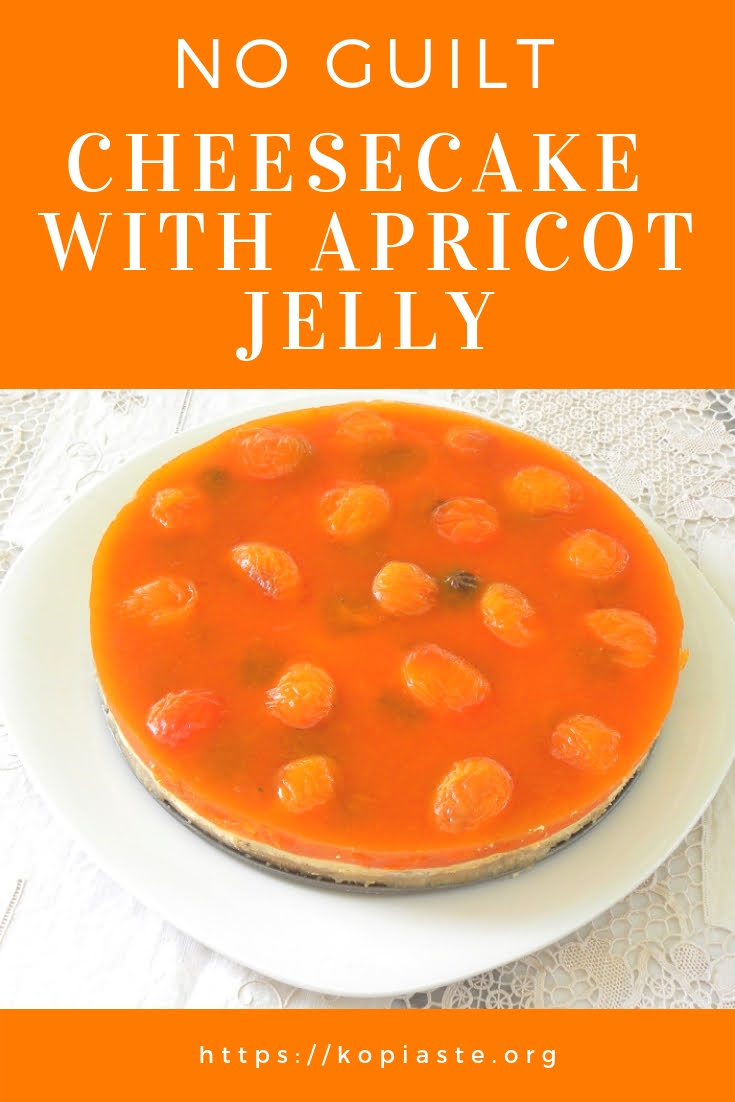 No guilt cheesecake with Apricot Jelly image