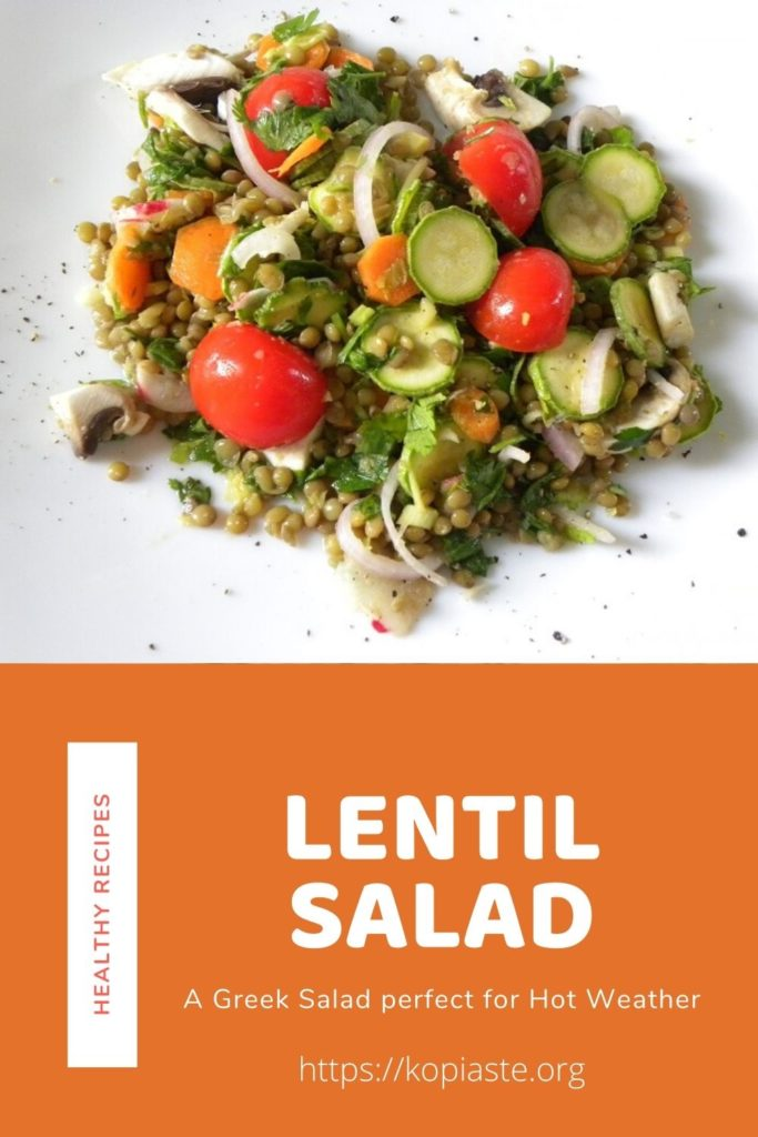 collage lentil salad image