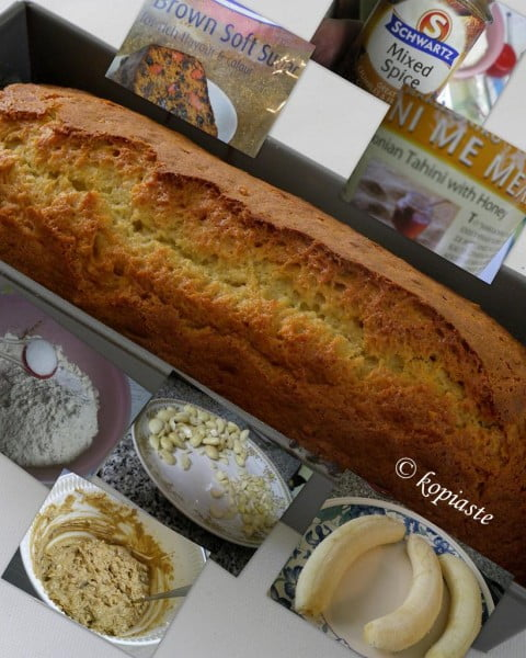 Collage Banana Tahini Bread image