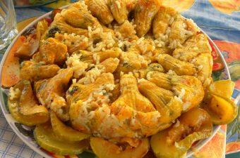 stuffed courgettes - zucchini - kolokythoanthoi image