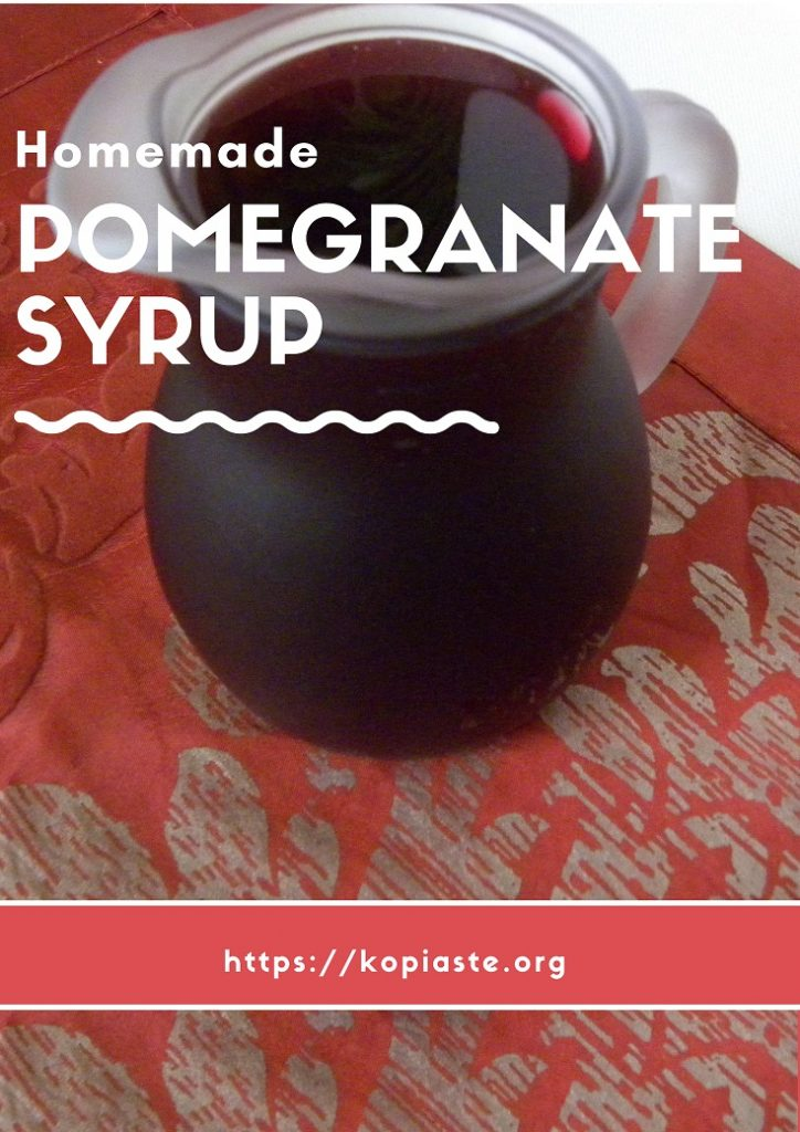 Collage Homemade Pomegranate syrup image