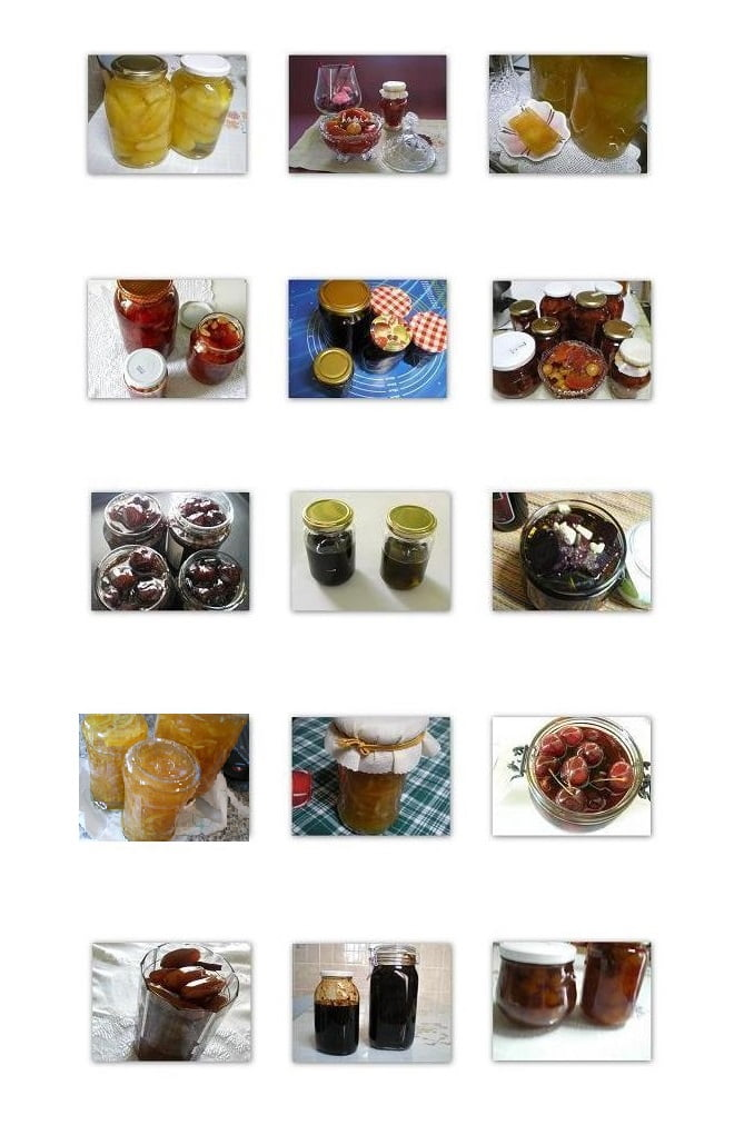 Collage jars with spoon sweets image
