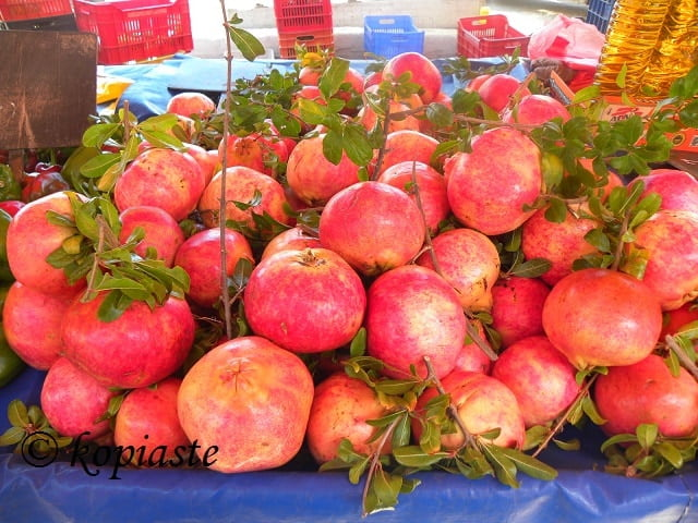pomegranate in farmers market image
