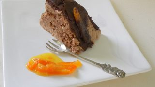 Black Lava Orange Gateau, A gourmet dessert made out of leftovers