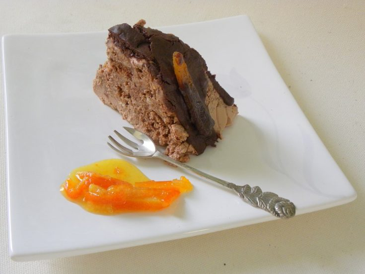Black Lava Orange Gateau, A gourmet dessert made out of leftovers