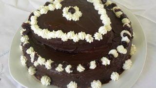 Two Tier Valentine's Cake