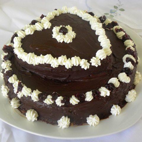 Chocolate Valentines Cake image