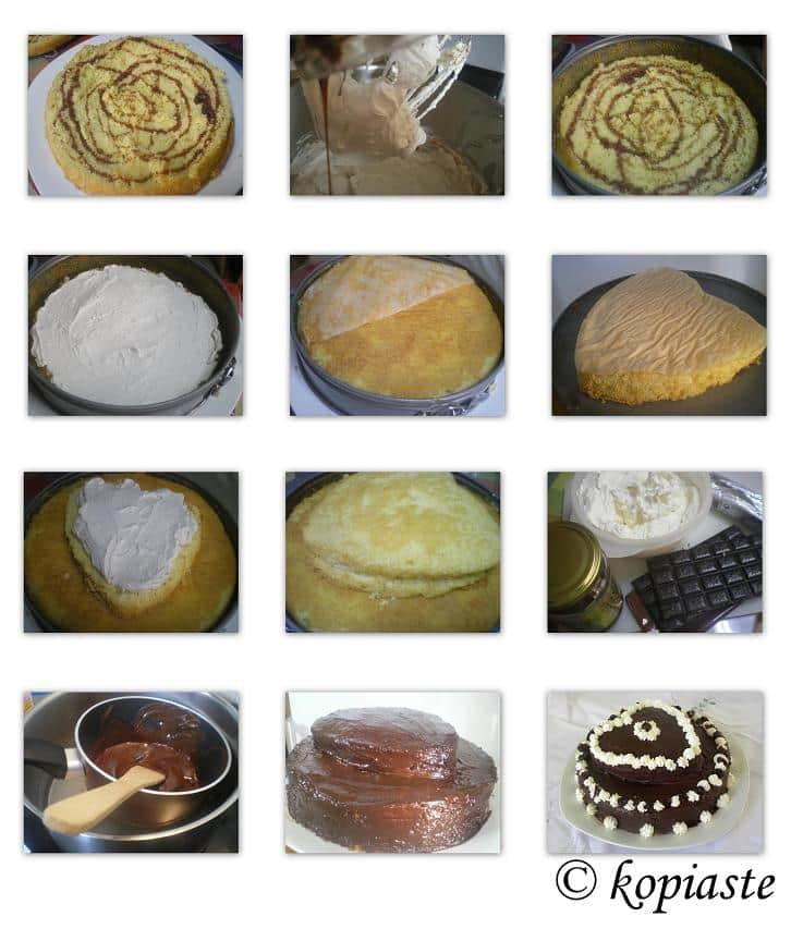 Collage Valentine's cake image