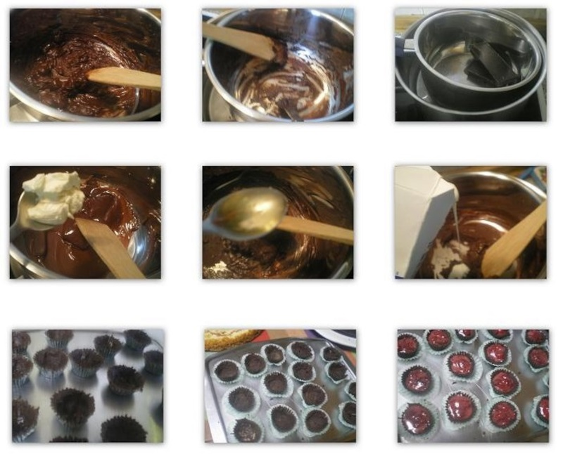 Collage 2 Making chocolate cupcakes image