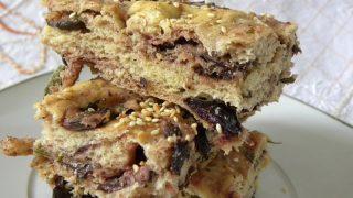 Lagana Flatbread with Olives & Rosemary