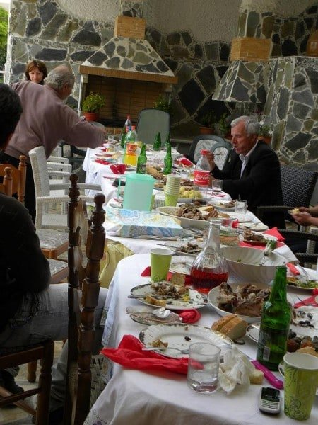 A table with food during Easter at Sparta image