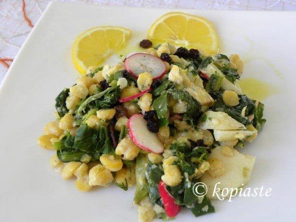 Revithosalates (chickpea salads)