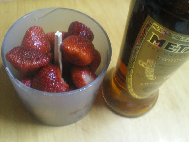 Strawberries with Metaxas Liqueur image