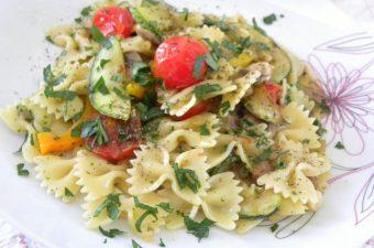 Hot Vegetables Pasta Salad image