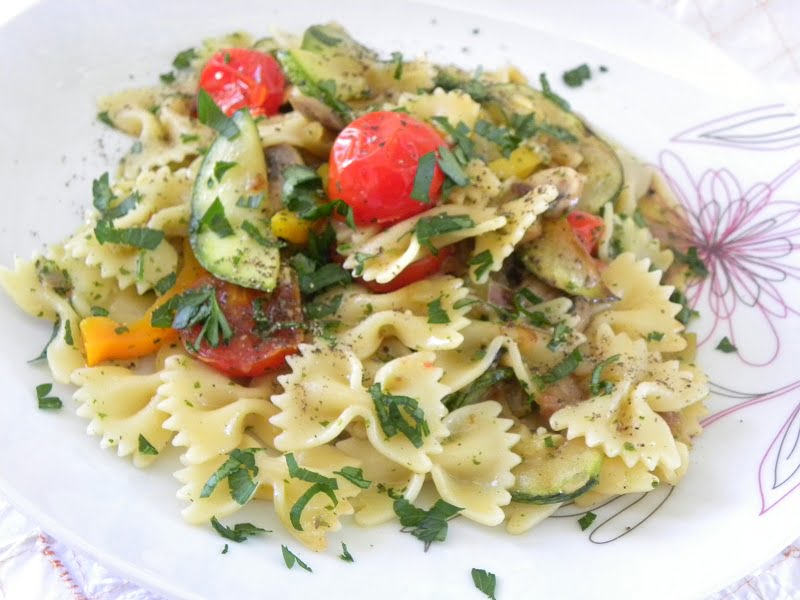 Hot Vegetables Pasta Salad image