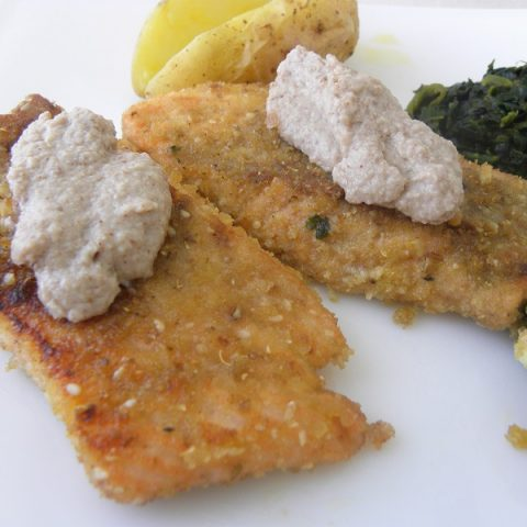 Crusted salmon fillets image