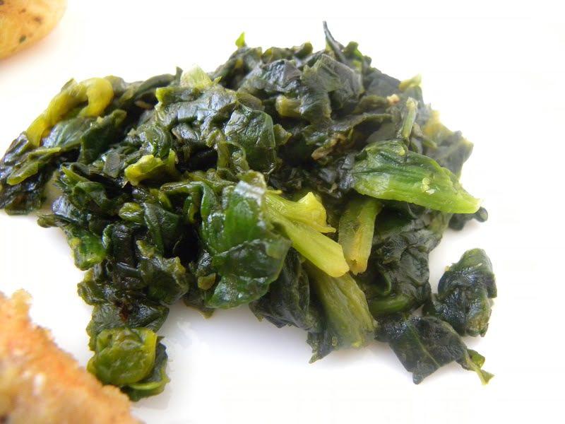 Sautéed Orange Garlic Spinach image