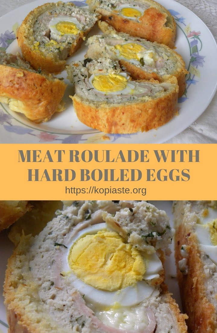 Collage Meat roulade with hard boiled eggs image