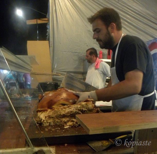 Bouzopoula crackling pig image