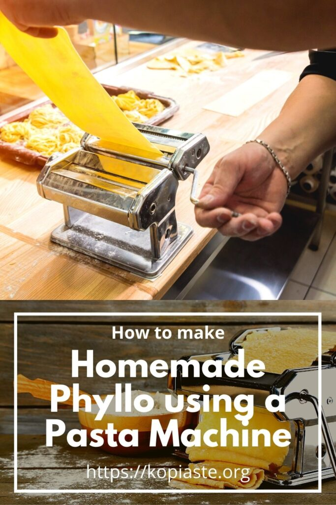 Collage How to Make Homemade Phyllo using a Pasta Machine image