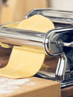 Pasta machine with dough image