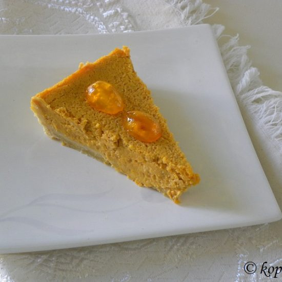 Pumpkin Cheesecake Tart and How to Roast Pumpkin and a Giveaway of my e-books