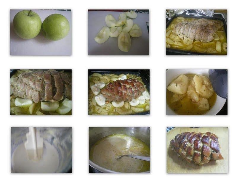 Stage 4 adding apples and Roasting Pork image