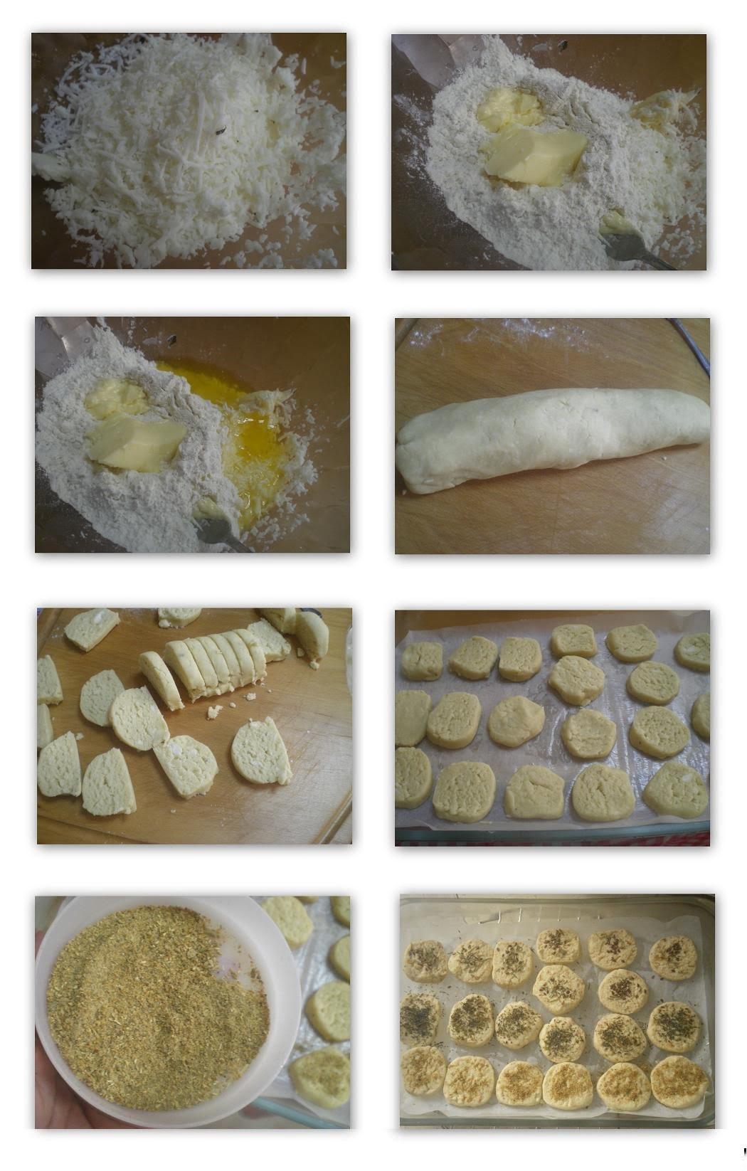 Collage Halloumi savory cookies