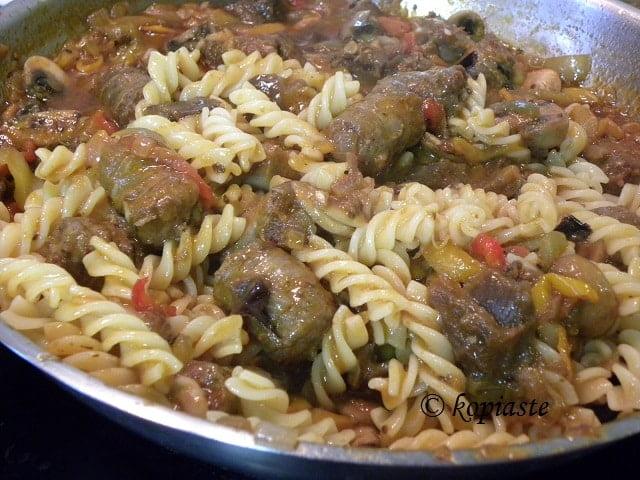 Spetzofai with Pasta