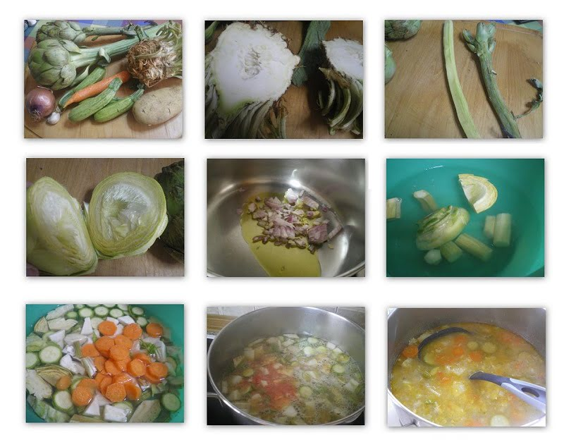 Collage Artichoke Celeriac Soup
