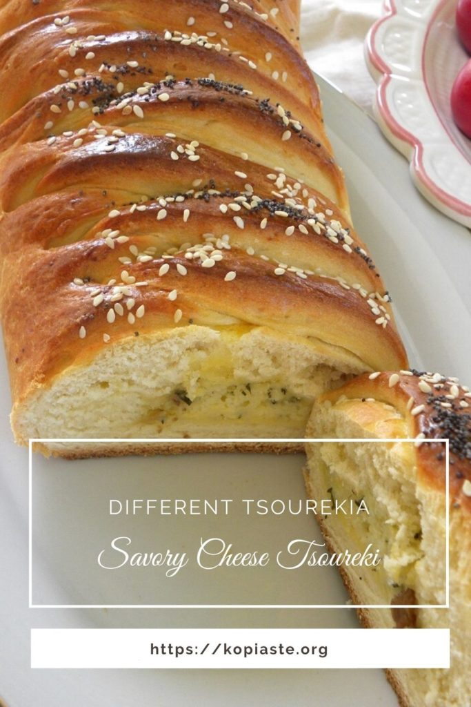 Collage savory cheese tsoureki image