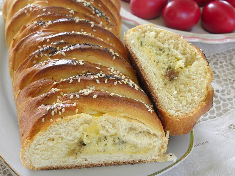 Braided Savory Cheese Tsoureki