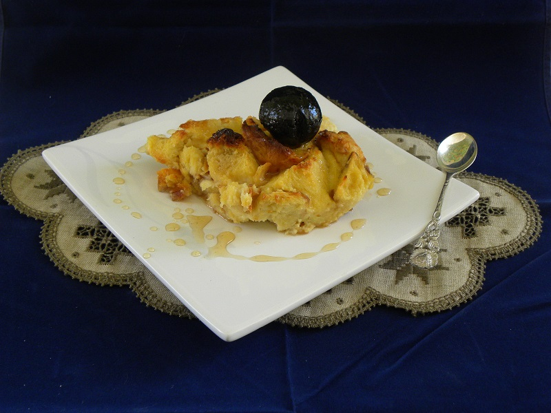 Tsoureki pudding with Karydaki image