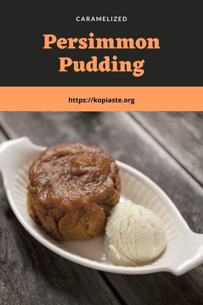 collage persimmon pudding photo