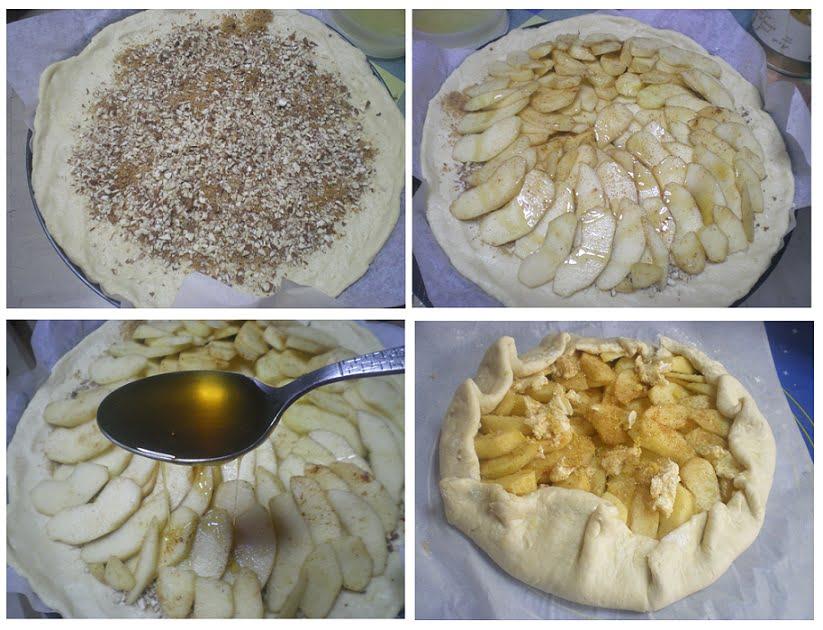 Collage making apple meringue image