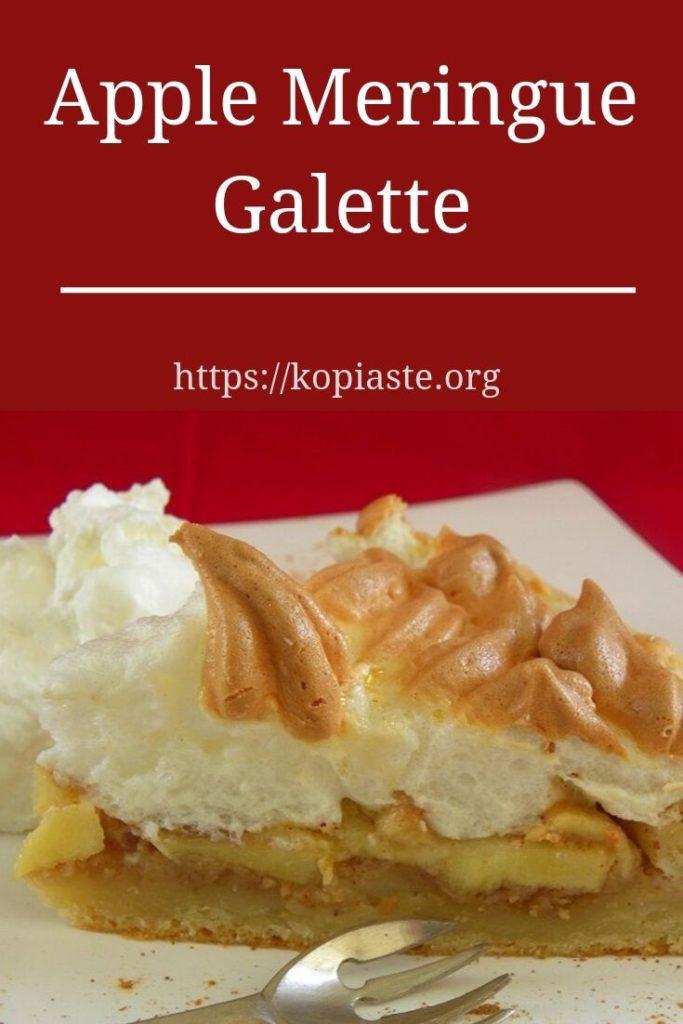 Collage Apple meringue galette image